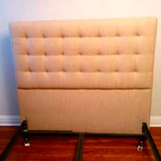 Custom Queen Size Button Tufted Headboard - Custom Upholstery and Reupholstery by Dreams Upholstery NYC