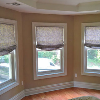 Roman And Relaxed Roman Shades - Custom Upholstery and Reupholstery by Dreams Upholstery NYC