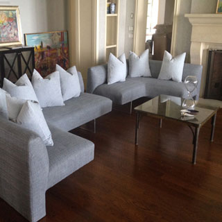 Modern Sectional Re-Upholstery - Custom Upholstery and Reupholstery by Dreams Upholstery NYC