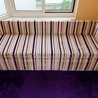 Custom Window Bench With Storage - Custom Upholstery and Reupholstery by Dreams Upholstery NYC