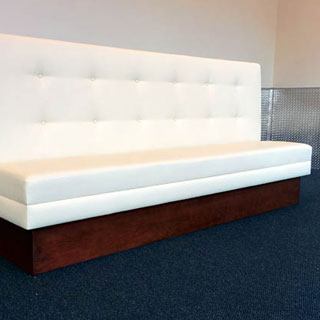 Custom Built Banquette - Custom Upholstery and Reupholstery by Dreams Upholstery NYC