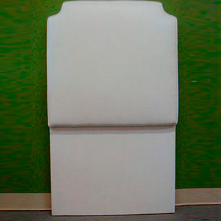 Twin White Headboard - Custom Upholstery and Reupholstery by Dreams Upholstery NYC