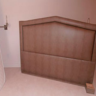Custom King Size Headboard - Custom Upholstery and Reupholstery by Dreams Upholstery NYC