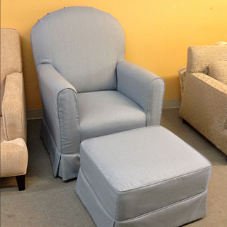 Chair & Ottoman Slipcover - Custom Upholstery and Reupholstery by Dreams Upholstery NYC