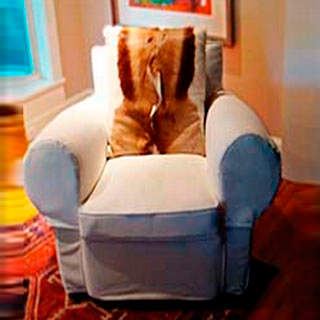 Living Room Chair Slipcover - Custom Upholstery and Reupholstery by Dreams Upholstery NYC