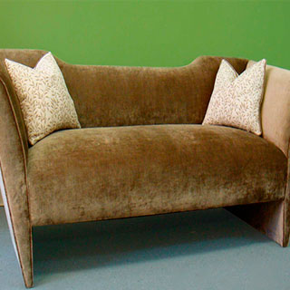 Reupholstered Settee - Custom Upholstery and Reupholstery by Dreams Upholstery NYC