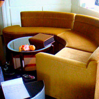 Curved Sectional Reupholstered - Custom Upholstery and Reupholstery by Dreams Upholstery NYC