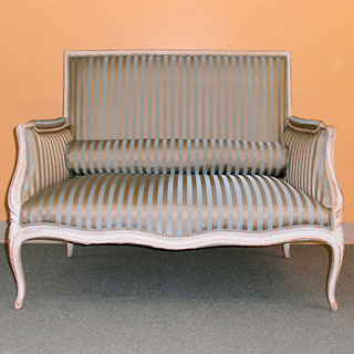 Settee & Chair Reupholstered - Custom Upholstery and Reupholstery by Dreams Upholstery NYC