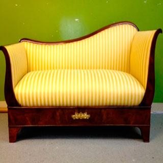 Wooden Framed Sofa Reupholstered - Custom Upholstery and Reupholstery by Dreams Upholstery NYC
