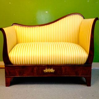 Wooden Framed Sofa Reupholstered - Custom Upholstery and Reupholstery by Dreams Upholstery NYC
