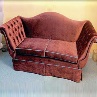 Tufted Arm Sofa Reupholstered - Custom Upholstery and Reupholstery by Dreams Upholstery NYC