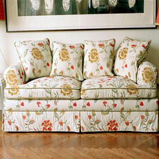 Sofa Reupholstery With Cord Trim - Custom Upholstery and Reupholstery by Dreams Upholstery NYC