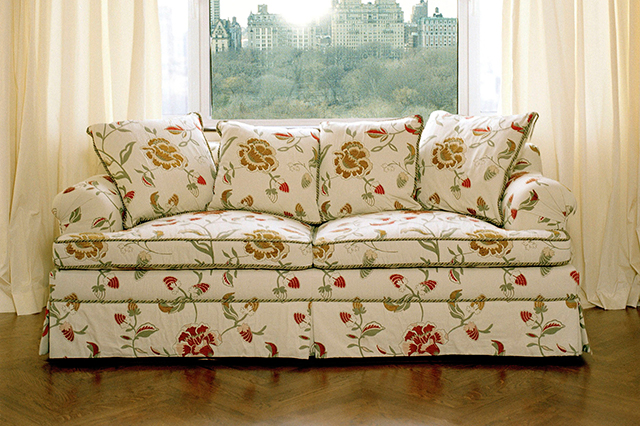 SOFA REUPHOLSTERY WITH CORD TRIM