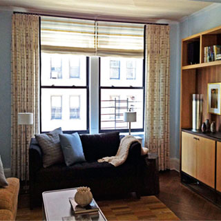 Living Room Window Treatment - Custom Upholstery and Reupholstery by Dreams Upholstery NYC