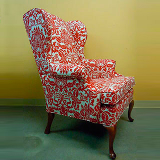 Wing Chair - Custom Upholstery and Reupholstery by Dreams Upholstery NYC