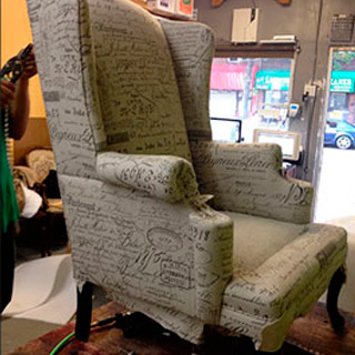 Signature Fabric Wing Chair - Custom Upholstery and Reupholstery by Dreams Upholstery NYC