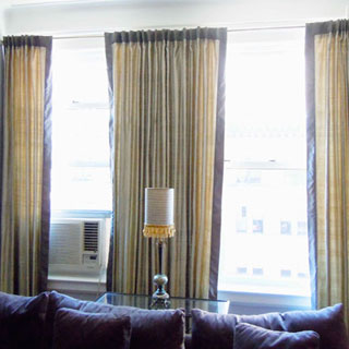 3 Panel Drapery - Custom Upholstery and Reupholstery by Dreams Upholstery NYC