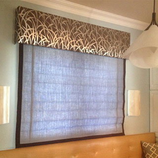 Roman Shade With Valance - Custom Upholstery and Reupholstery by Dreams Upholstery NYC