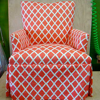 Skirted Chair - Custom Upholstery and Reupholstery by Dreams Upholstery NYC