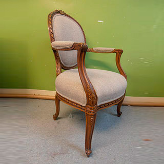 Louis Oval Back Chair - Custom Upholstery and Reupholstery by Dreams Upholstery NYC
