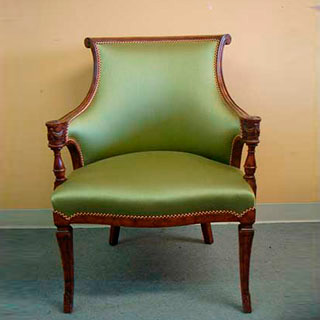 Sheraton Chair With Contrast Double Welt Finish - Custom Upholstery and Reupholstery by Dreams Upholstery NYC