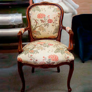 Reinforced Louis Chair - Custom Upholstery and Reupholstery by Dreams Upholstery NYC