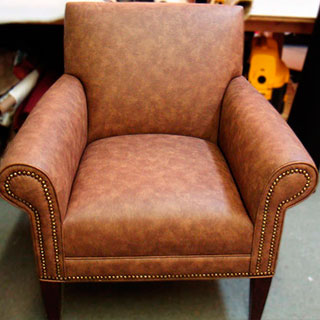 ARM CHAIR WITH NAIL HEAD - Custom Upholstery and Reupholstery by Dreams Upholstery NYC