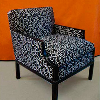 Reupholstered & Painted Accent Chair - Custom Upholstery and Reupholstery by Dreams Upholstery NYC