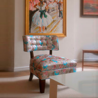 Slipper Chair With Buttoned Top - Custom Upholstery and Reupholstery by Dreams Upholstery NYC