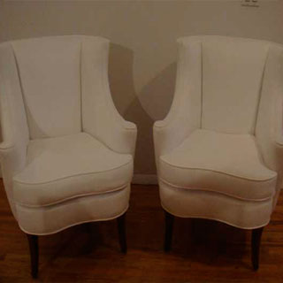 Pair Of Wing Back Chairs - Custom Upholstery and Reupholstery by Dreams Upholstery NYC