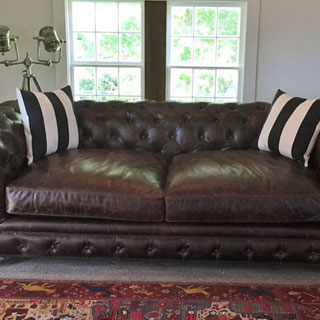 Tufted Sofa Disassembled & Reassembled - Custom Upholstery and Reupholstery by Dreams Upholstery NYC