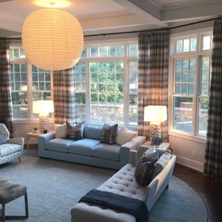 Hampton Sheer Window Treatment - Custom Upholstery and Reupholstery by Dreams Upholstery NYC