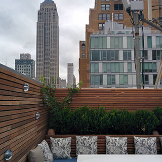 Gramercy Penthouse Outdoor Cushions - Custom Upholstery and Reupholstery by Dreams Upholstery NYC