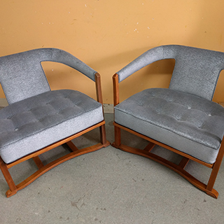 Pair of Media Room Chairs - Custom Upholstery and Reupholstery by Dreams Upholstery NYC