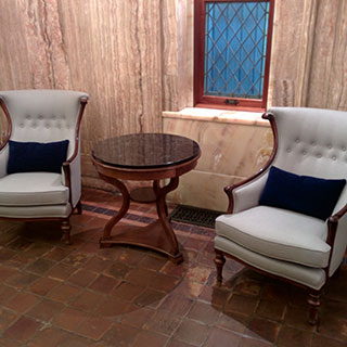 Gramercy Park Lobby Chairs - Custom Upholstery and Reupholstery by Dreams Upholstery NYC