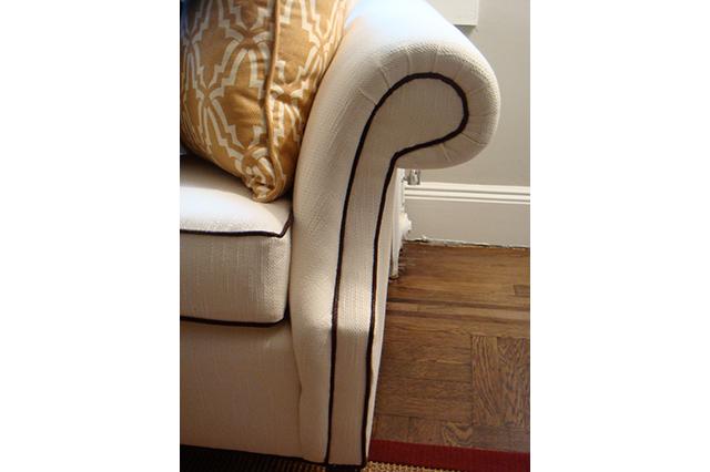Camel Back Sofa Reupholstered Dreams Upholstery